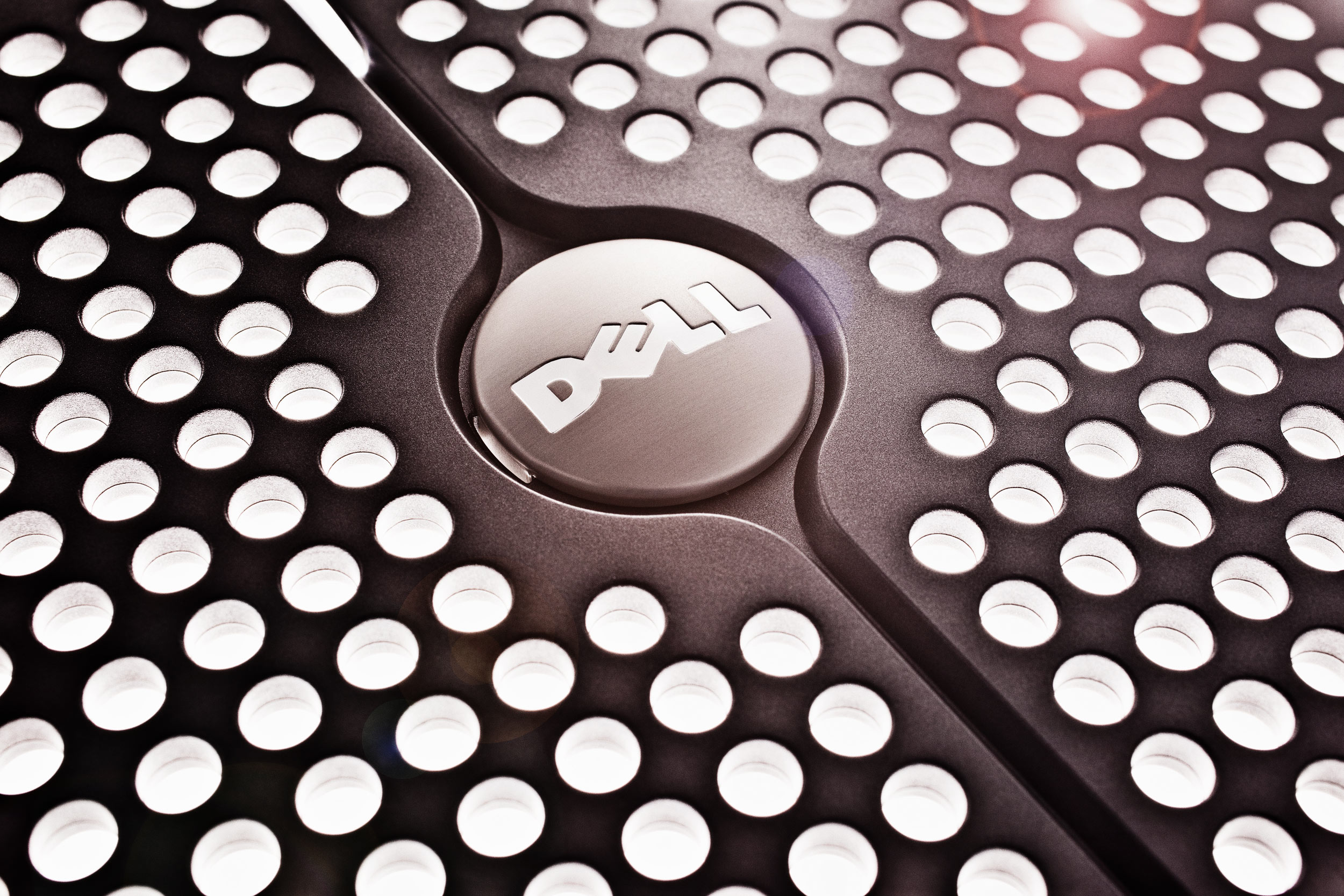 Product photographer - abstract shot of Dell computer cover with great lighting