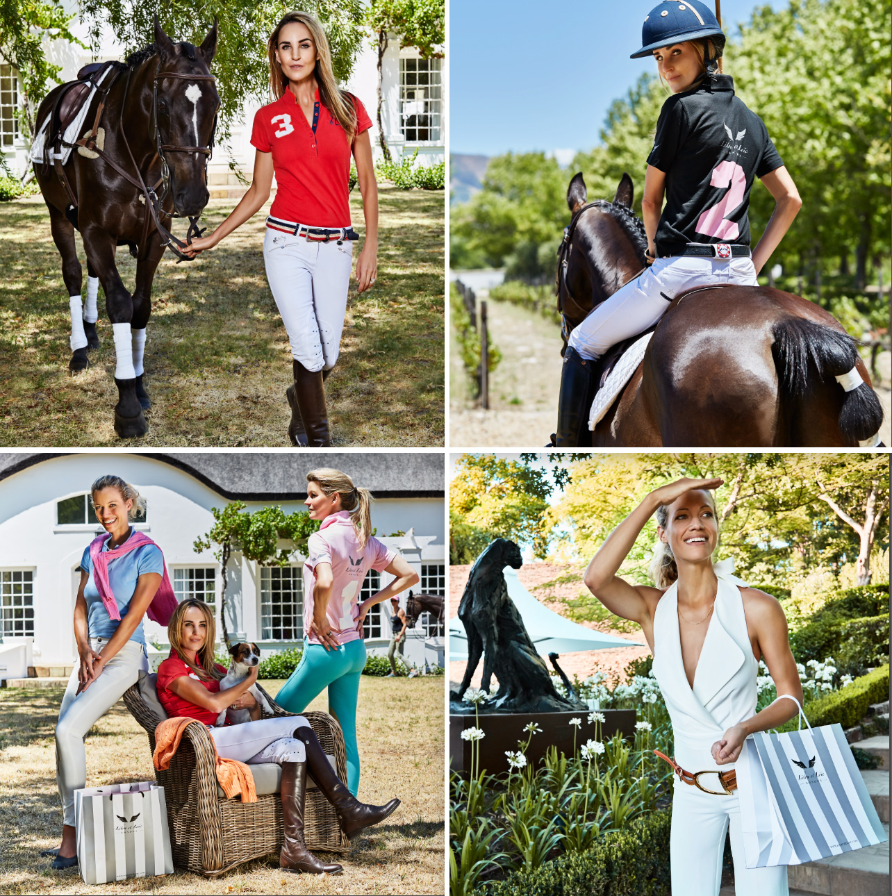 Lifestyle photographer - images of women wearing Polo clothes.  Shot on location